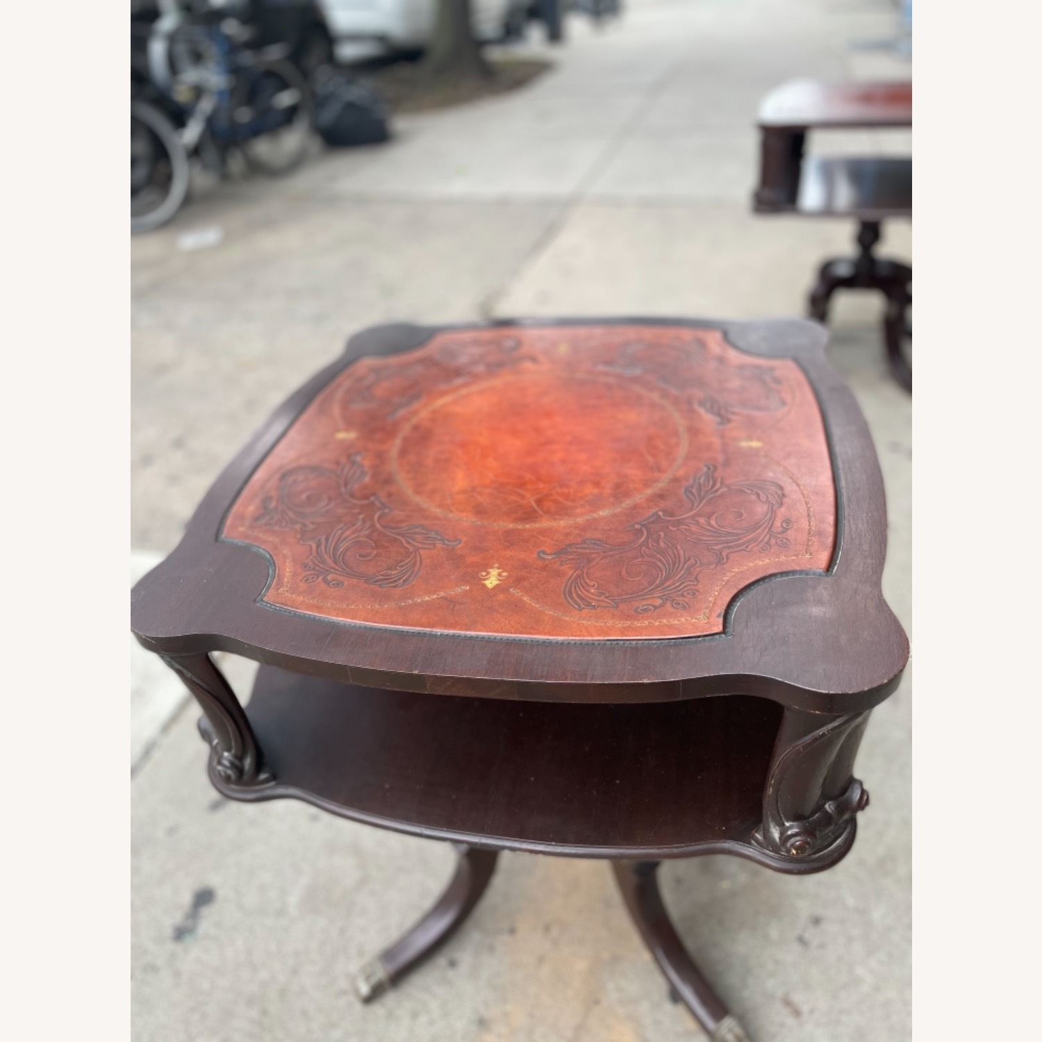 Adams Always 1930s Decorative Leather Top Table - image-13