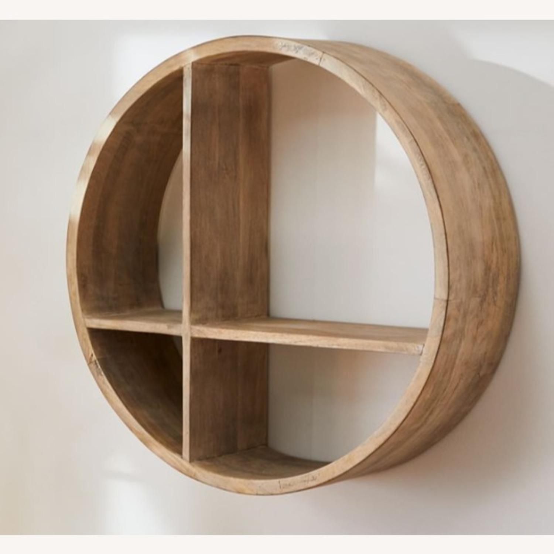 West Elm Shape Shelf Unit, Wood, Honey - image-1