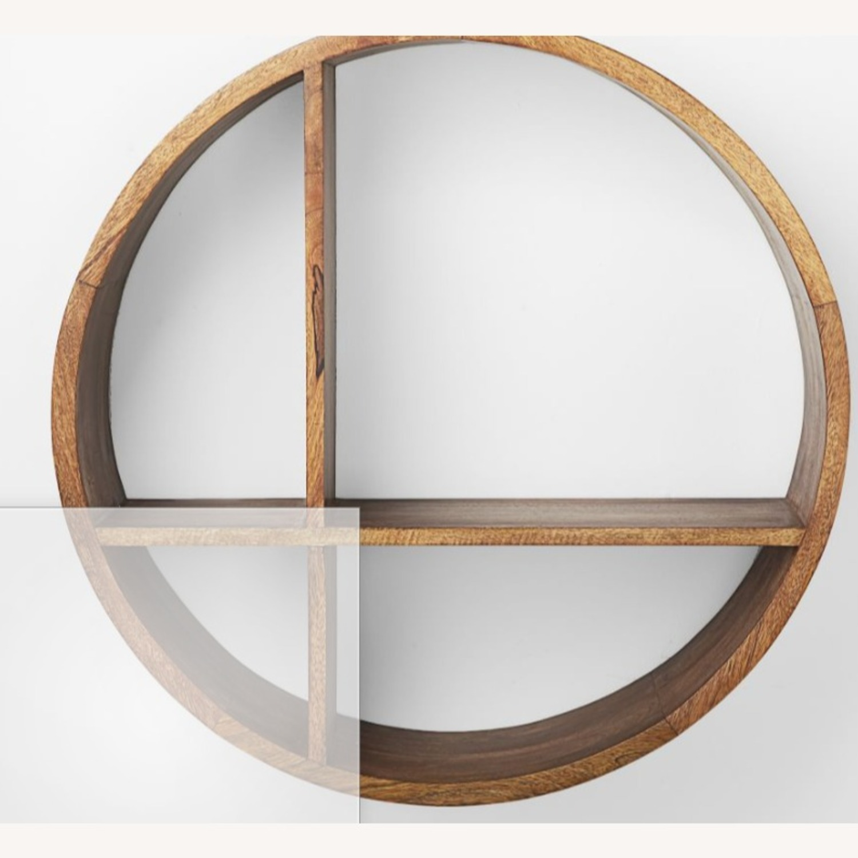 West Elm Shape Shelf Unit, Wood, Honey - image-2
