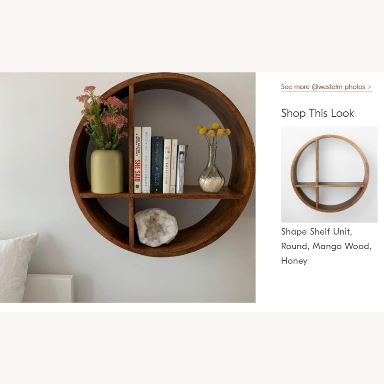 West Elm Shape Shelf Unit, Wood, Honey - image-3