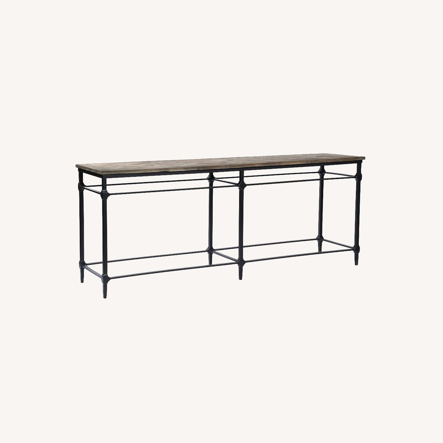 """Pottery Barn Parquet 84"""" Grand Console Table - image-0"""