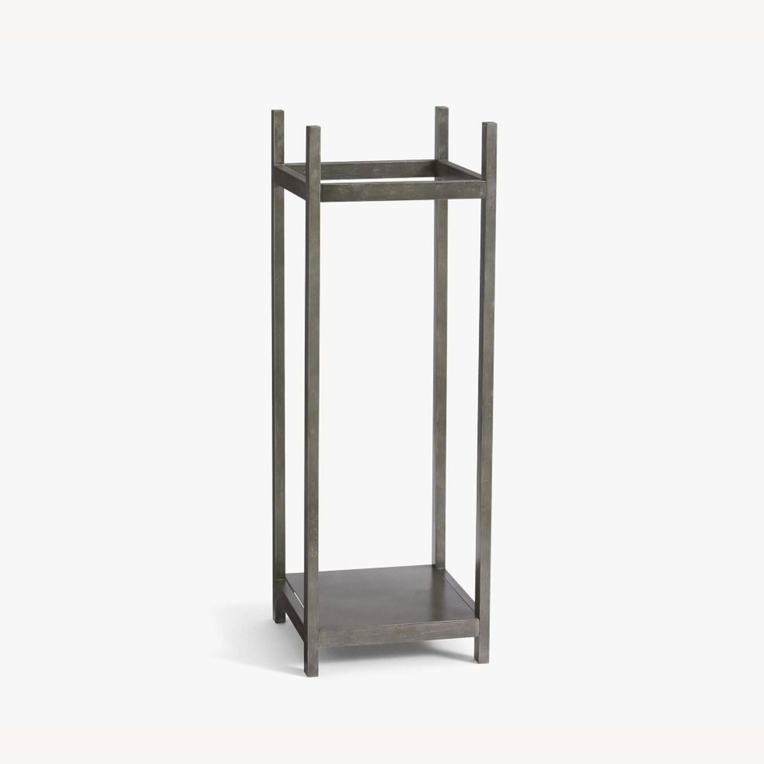 Pottery Barn Industrial Fireplace Log Holder Tower - image-1
