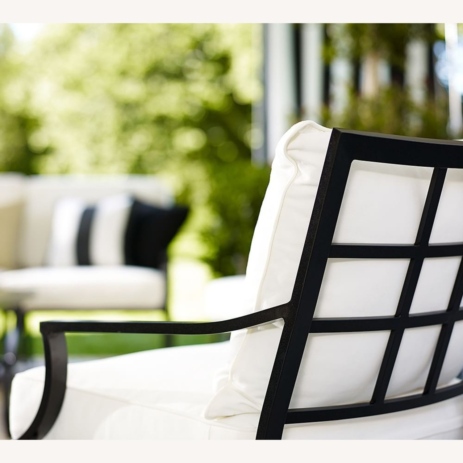 Pottery Barn Riviera Lounge Chair Frame, Black - image-2