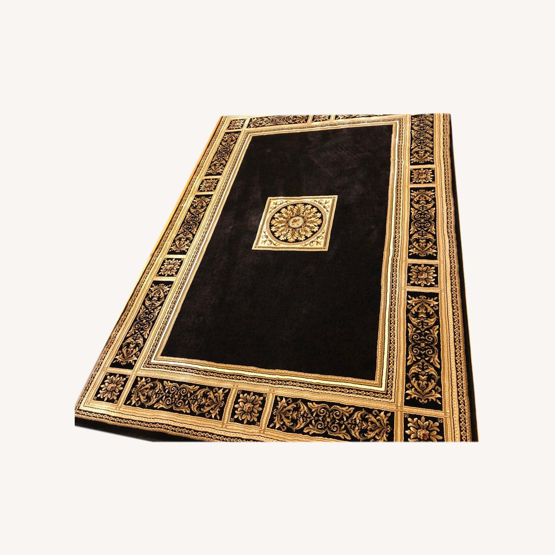 Vintage Designed Black and Gold Area Rug - image-0