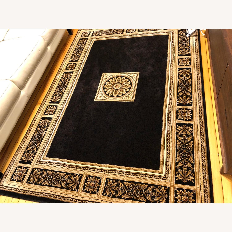 Vintage Designed Black and Gold Area Rug - image-1