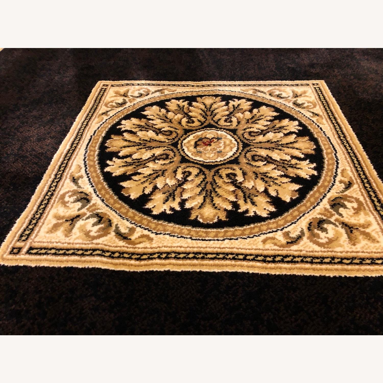 Vintage Designed Black and Gold Area Rug - image-3