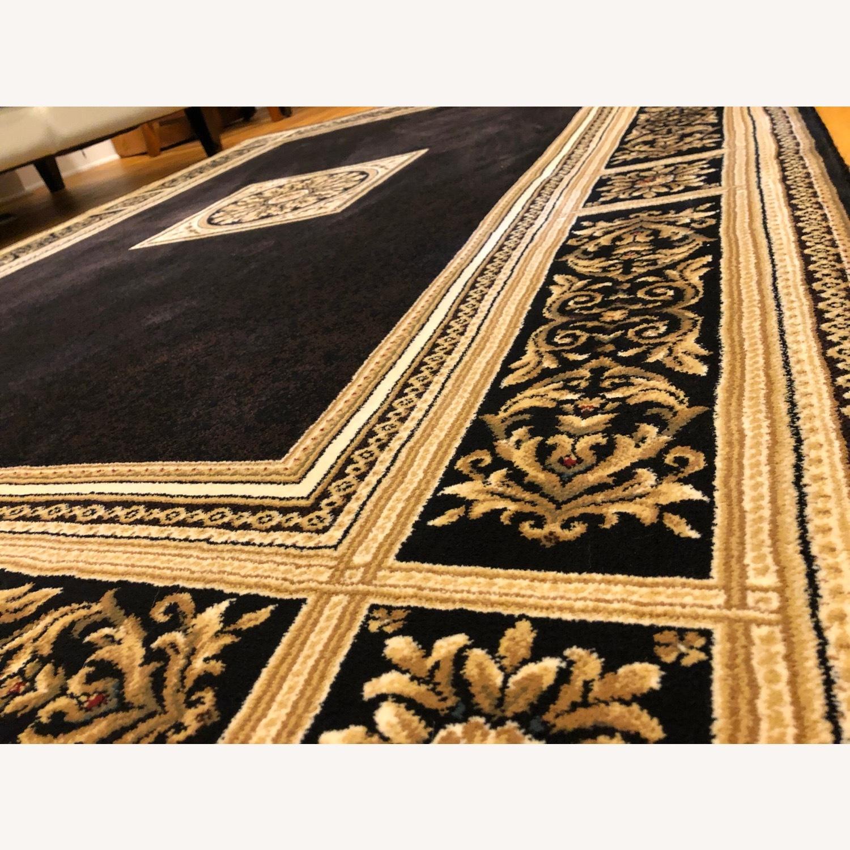 Vintage Designed Black and Gold Area Rug - image-2