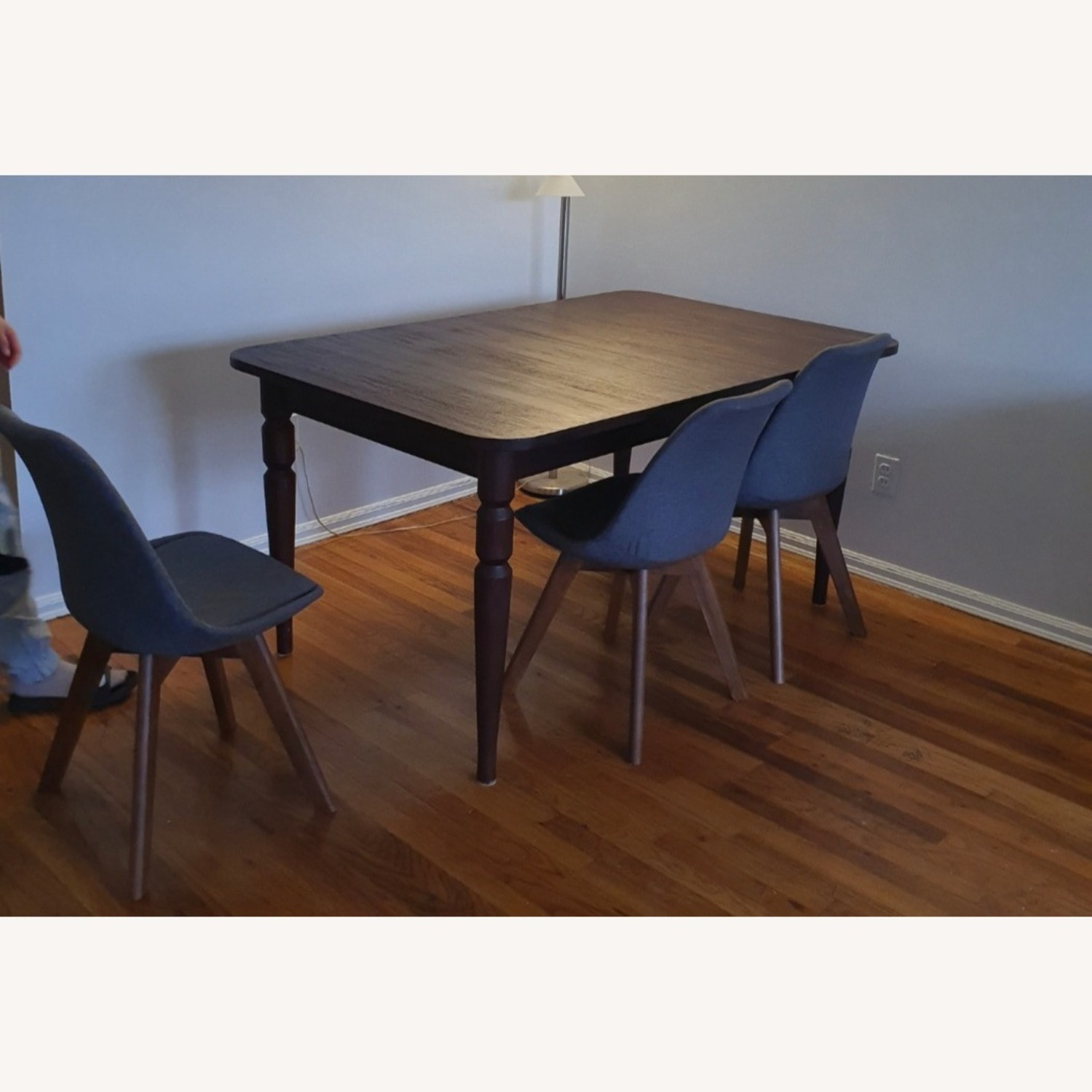 Crate & Barrel Extendable Hard Wood Dining Table - image-1