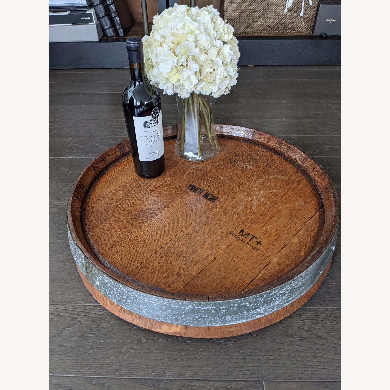 Lazy Susan Wine Barrel Top - image-1