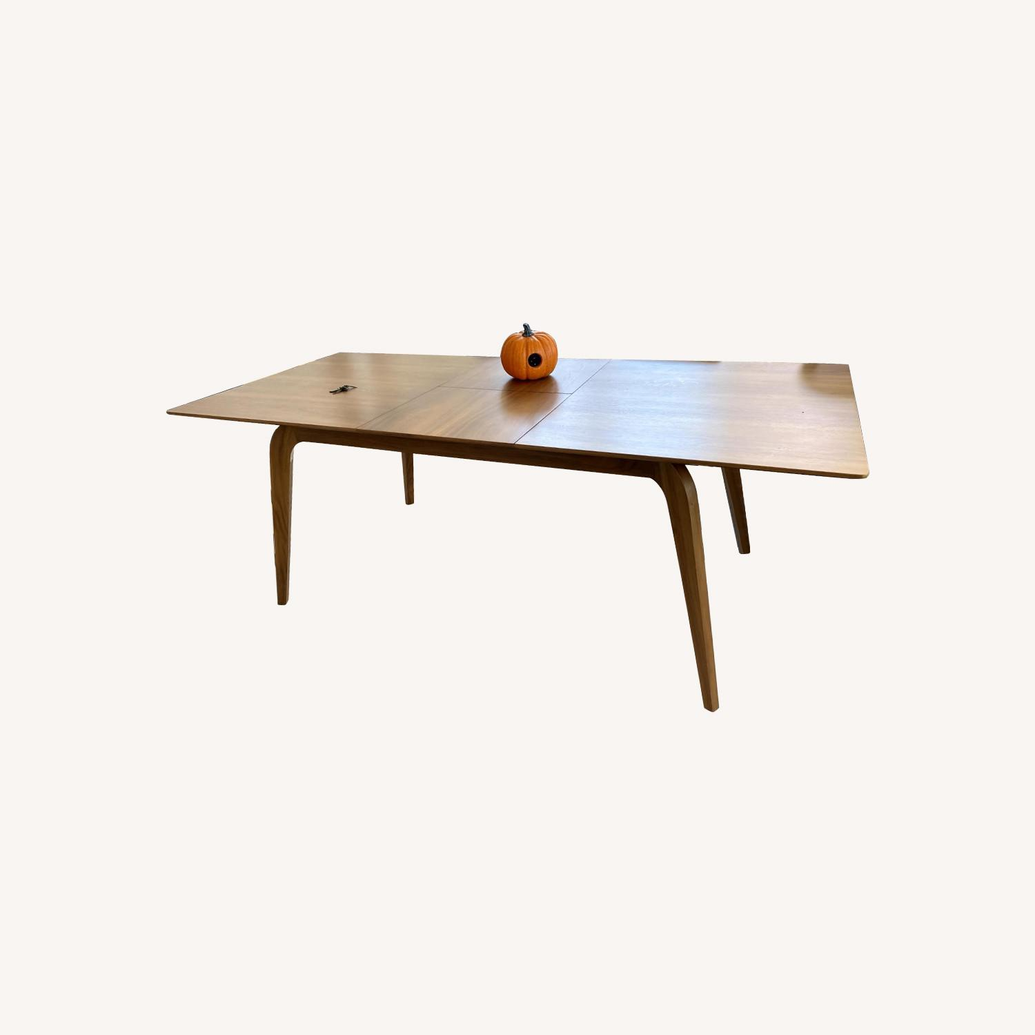 Samuel Lawrence Walnut Dining Table with Removable Leaf - image-0