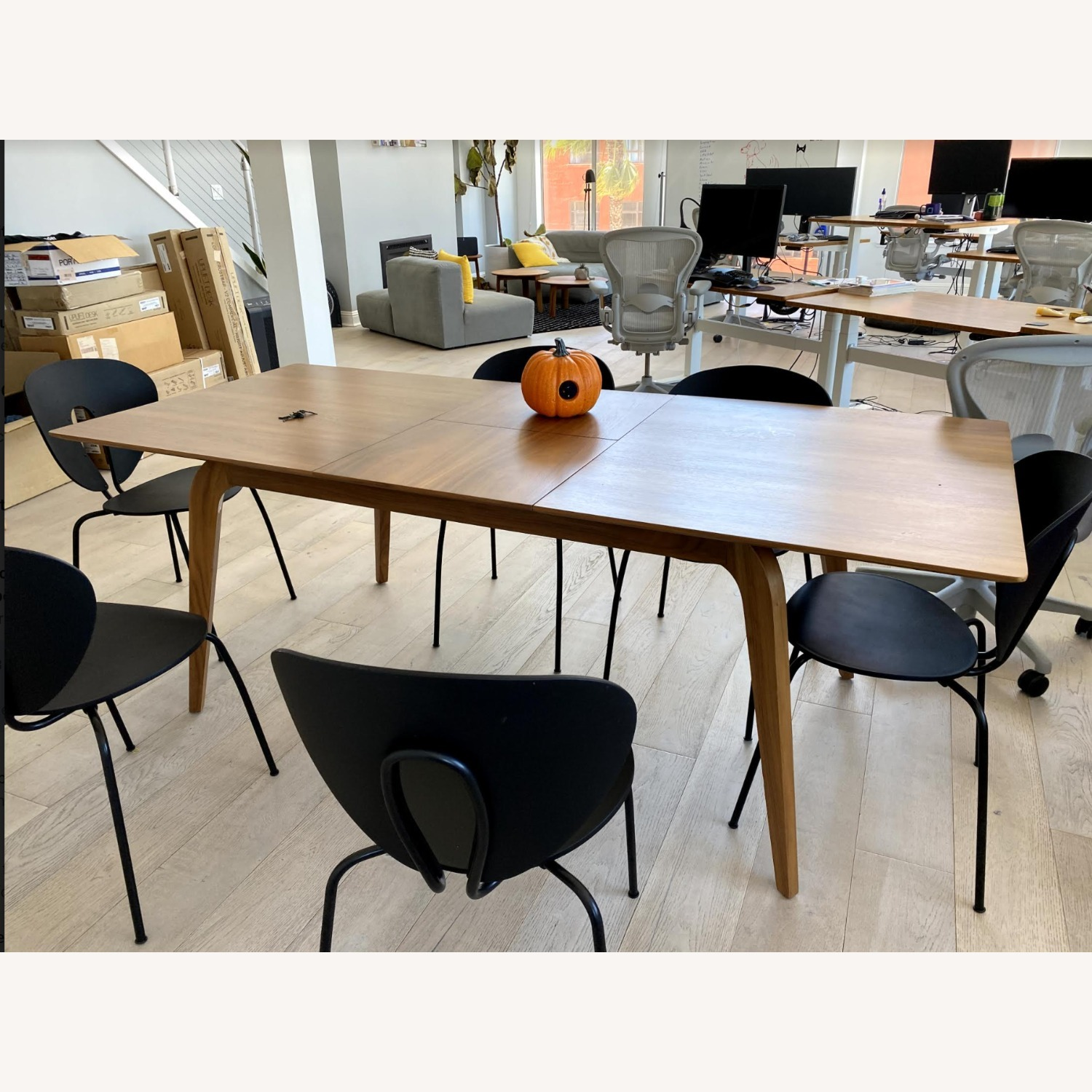 Samuel Lawrence Walnut Dining Table with Removable Leaf - image-3