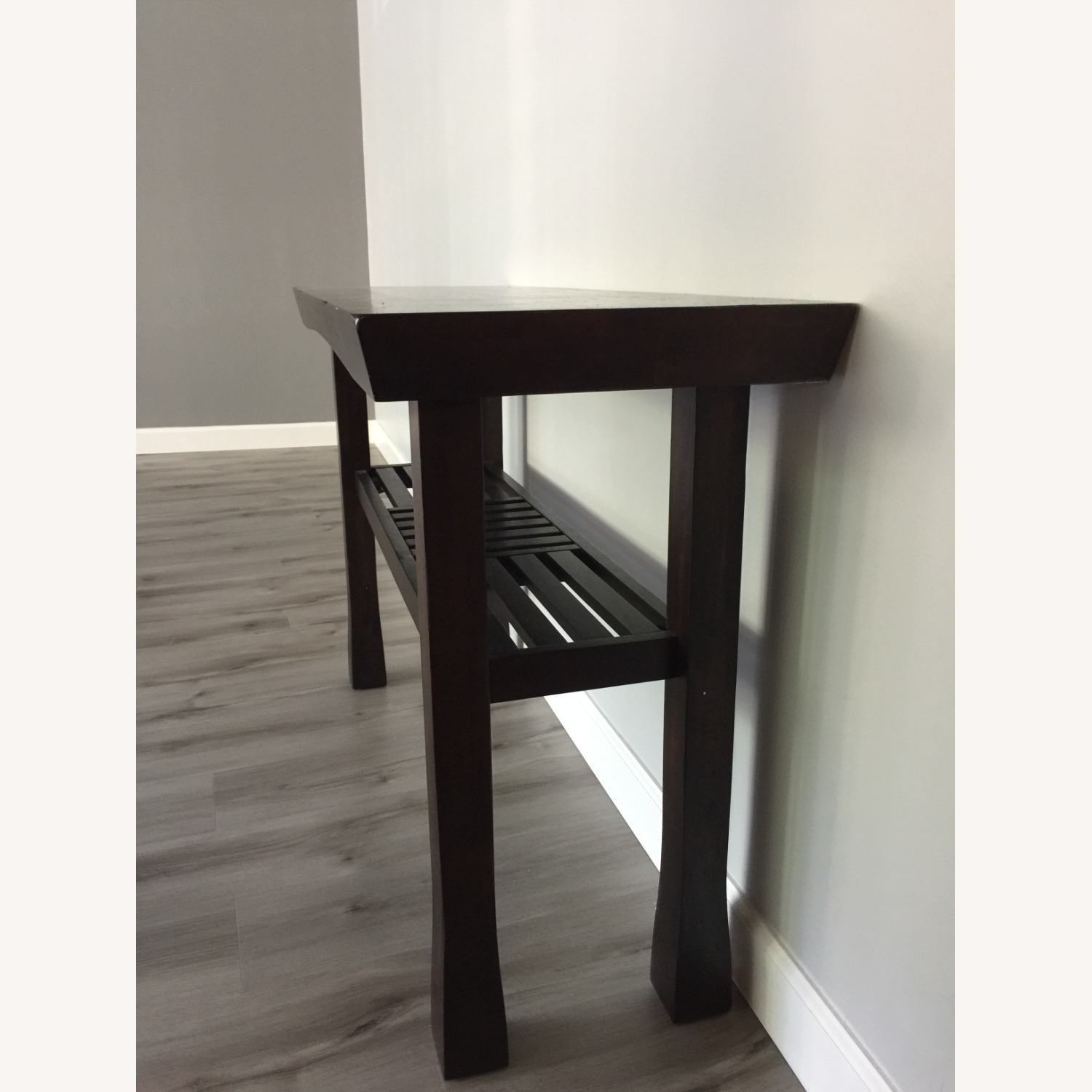 Dark Wood Console Table - image-2