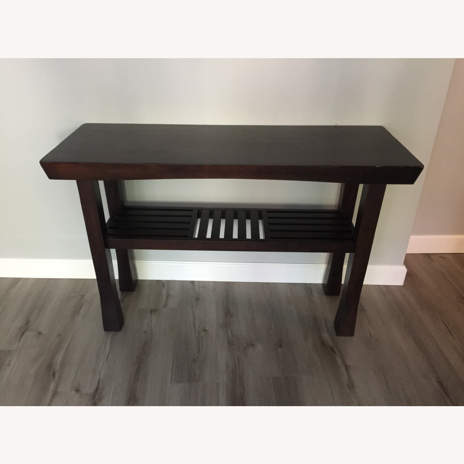 Dark Wood Console Table - image-1