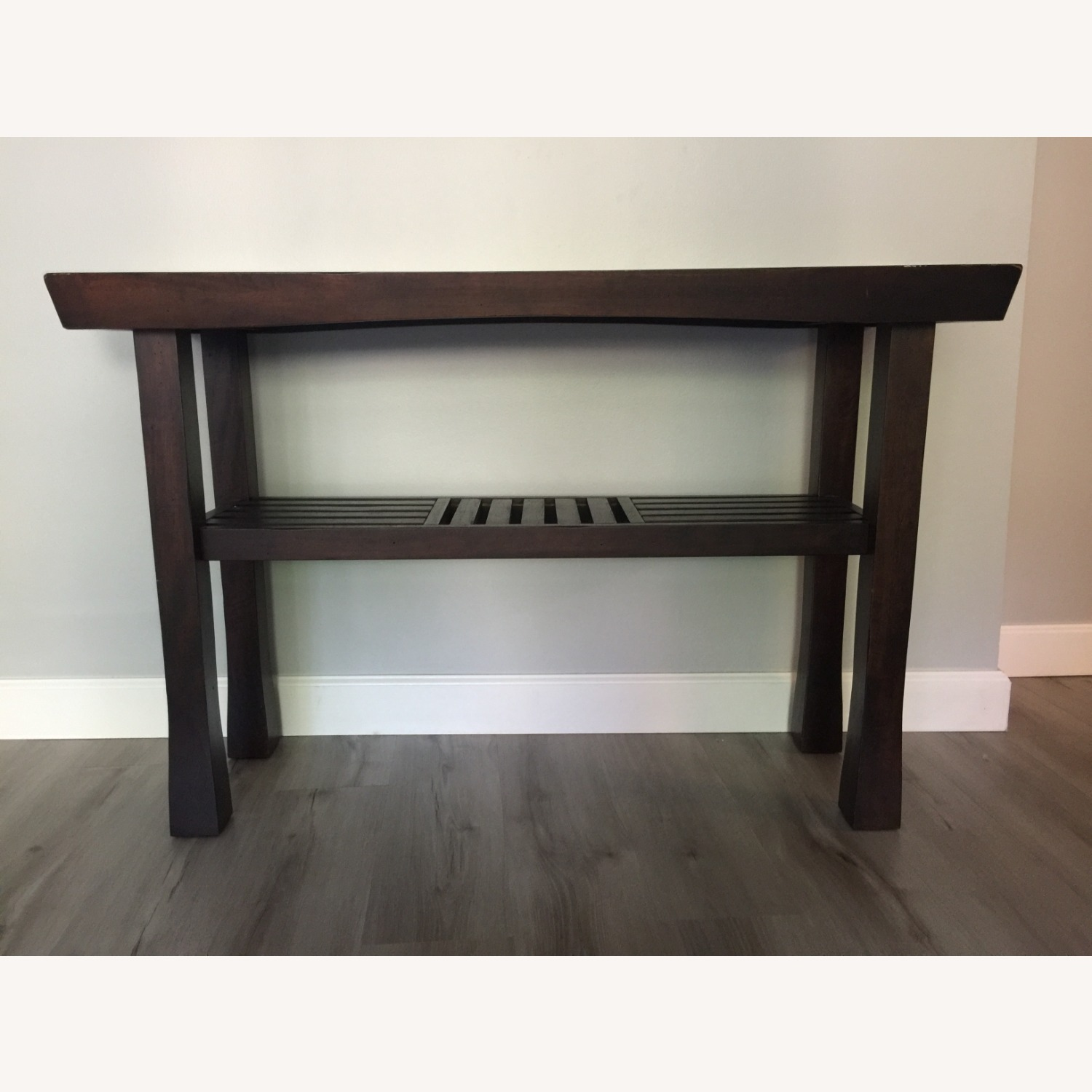 Dark Wood Console Table - image-3