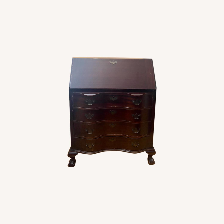 Antique Mahogany Secretary Desk with 4 Drawers. - image-0