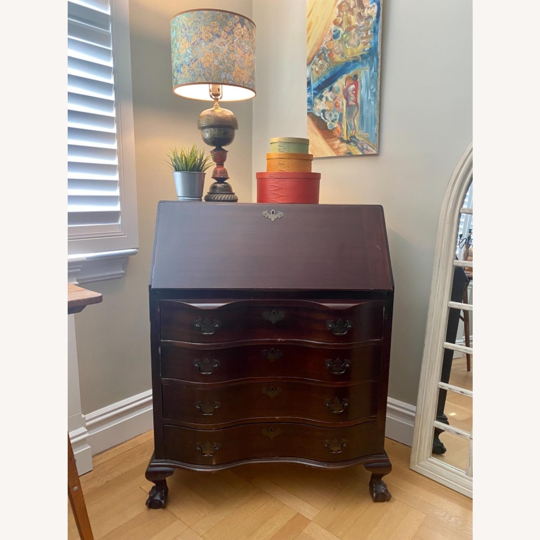 Antique Mahogany Secretary Desk with 4 Drawers. - image-1