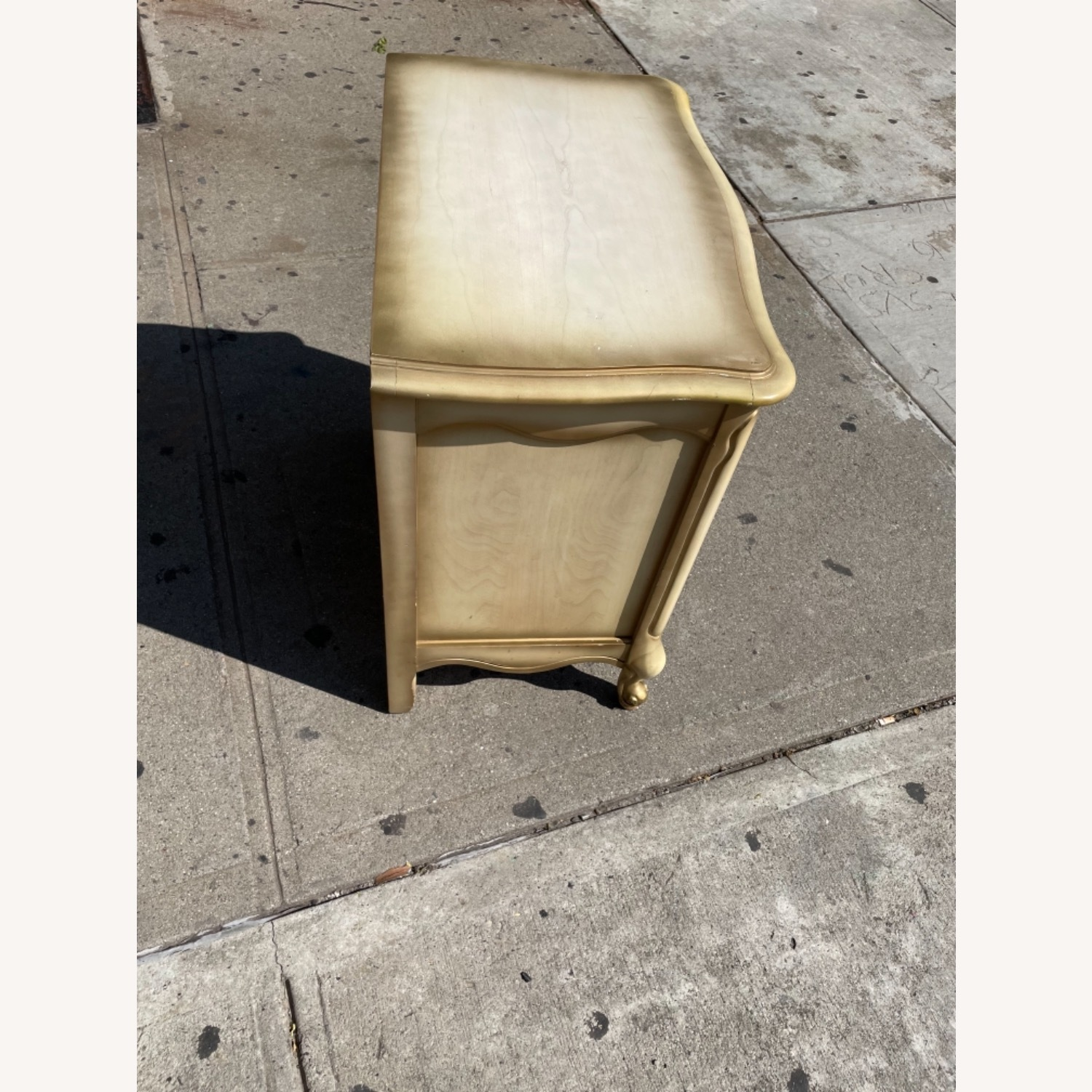 Basset 1970sFrench Style Nightstand w/GlassTop - image-7