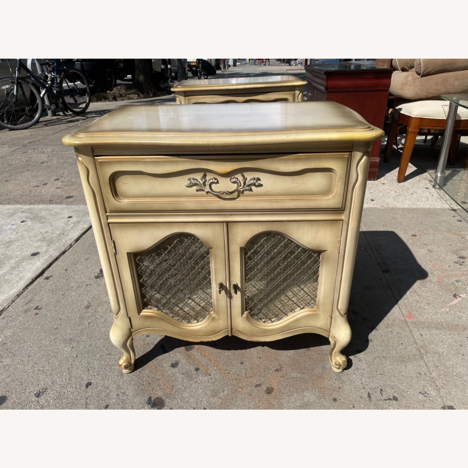 Basset 1970sFrench Style Nightstand w/GlassTop - image-3