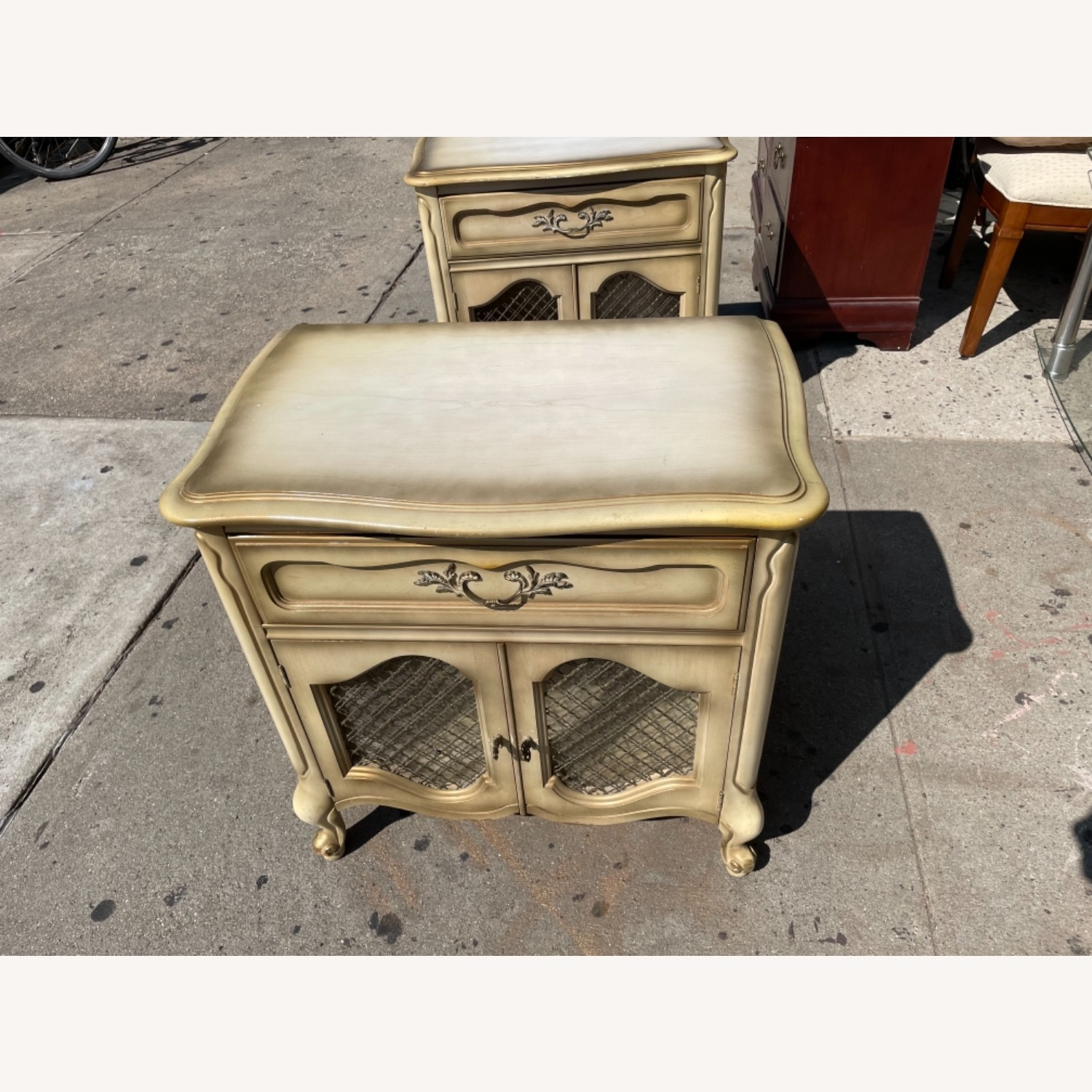 Basset 1970sFrench Style Nightstand w/GlassTop - image-2
