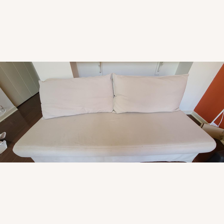 Cream Sofa Bed - image-1