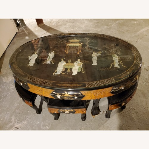Used Oriental Mother of Pearl Table with 6 Seats for sale on AptDeco