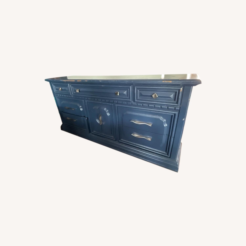 Restoration Hardware Blue Dresser - image-0