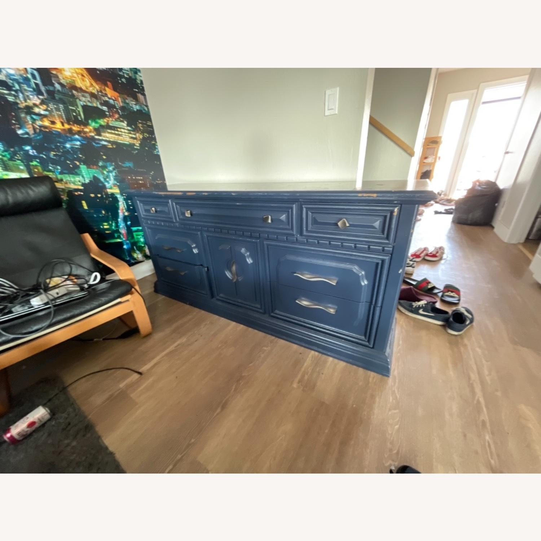 Restoration Hardware Blue Dresser - image-2