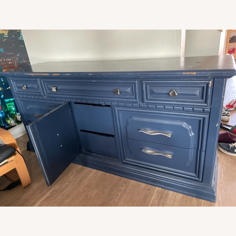 Restoration Hardware Blue Dresser - image-6