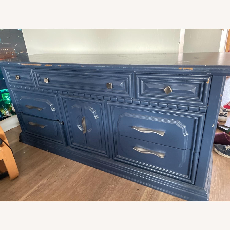 Restoration Hardware Blue Dresser - image-1