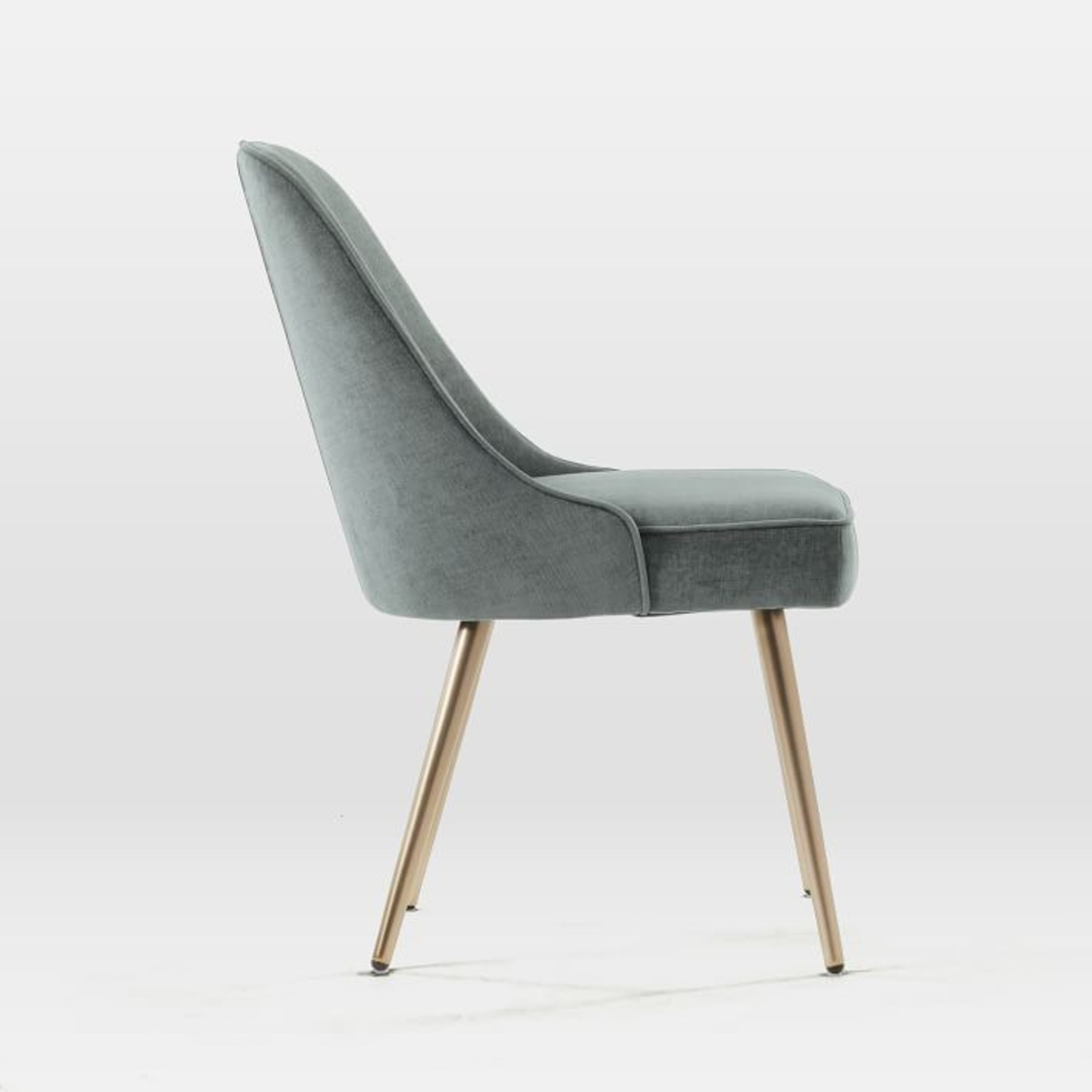 West Elm Mid Century Upholstered Dining Chair Set - image-2