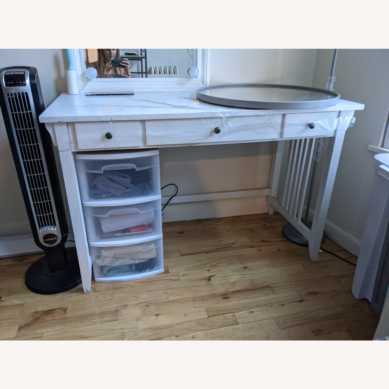 Vintage Desk with Drawers - image-2