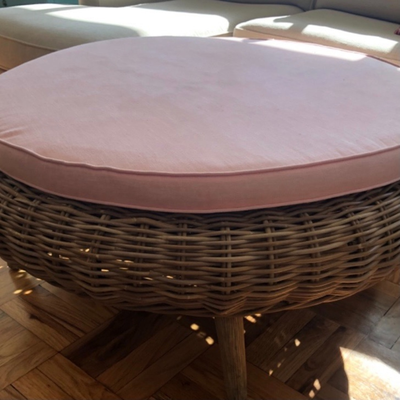 Ligne Roset Sempre Round Ottoman with Cushion - image-3