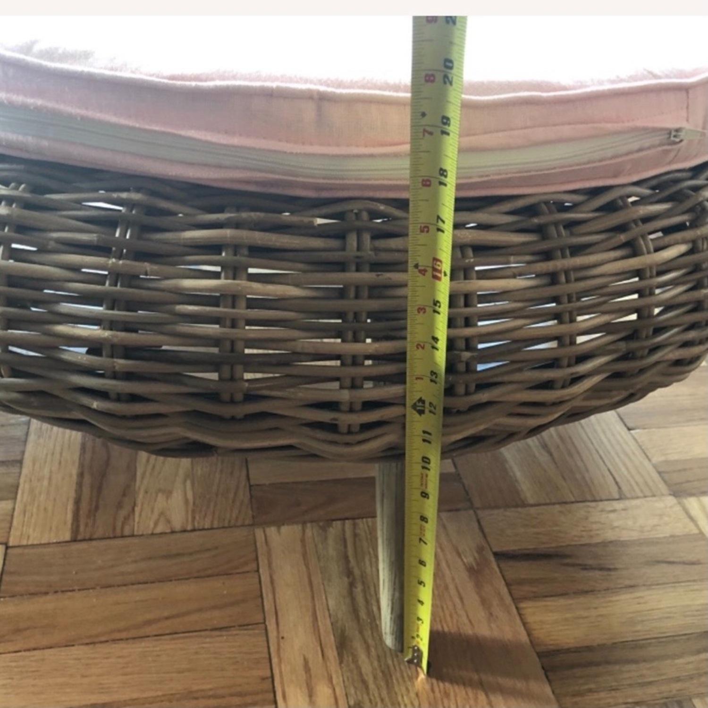 Ligne Roset Sempre Round Ottoman with Cushion - image-8