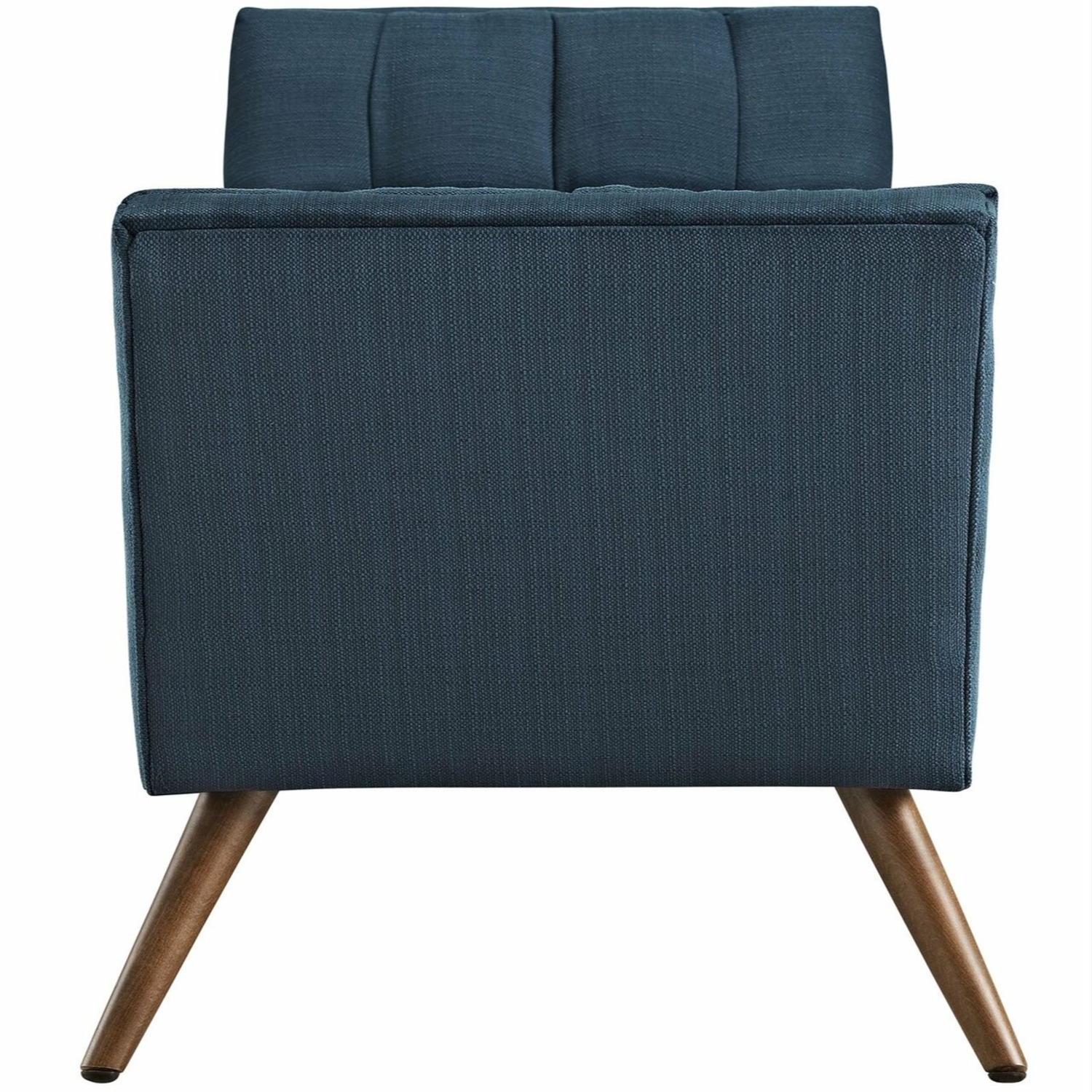 Bench In Tufted Azure Fabric Upholstery Finish - image-3