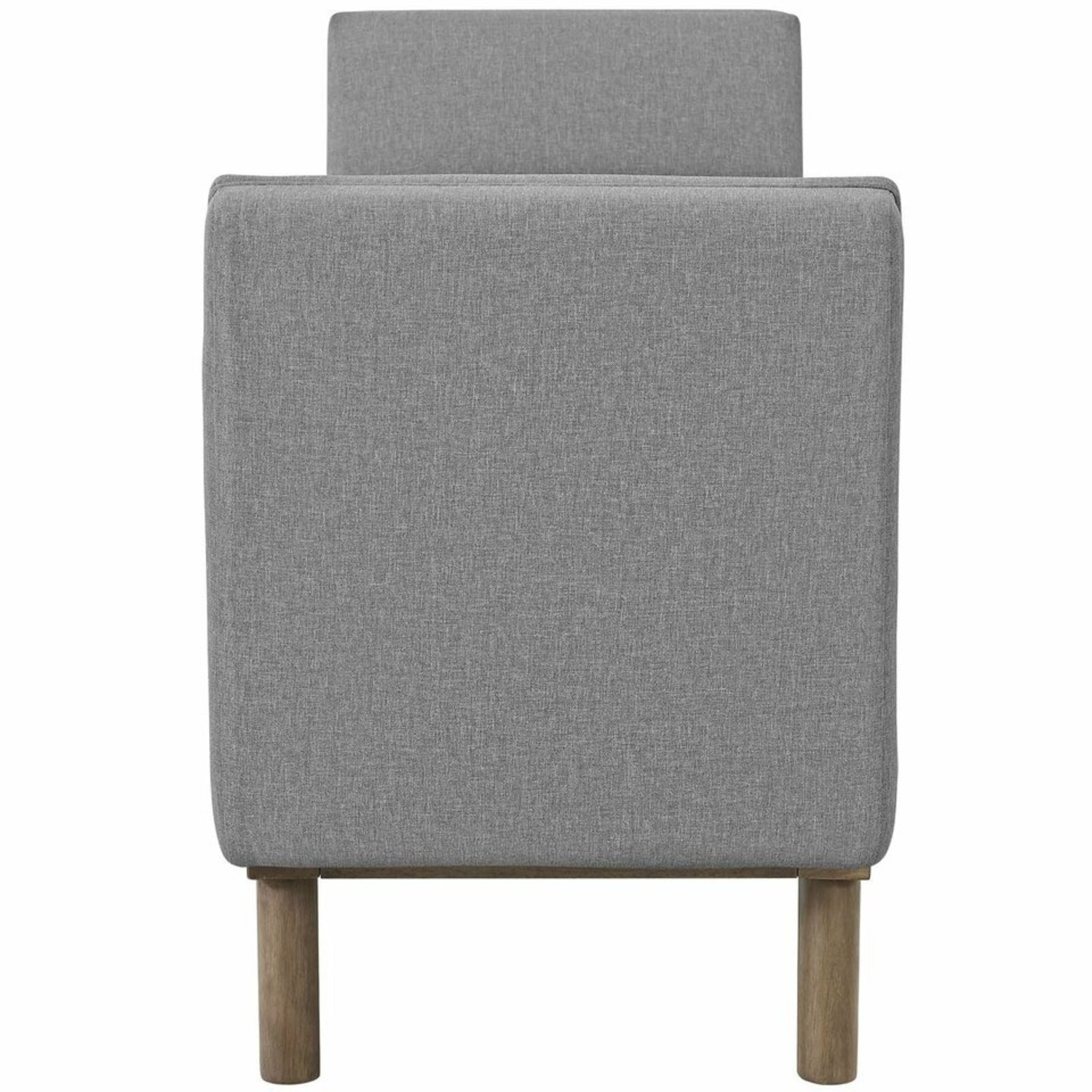 Accent Bench In Tufted Light Gray Fabric Finish - image-3