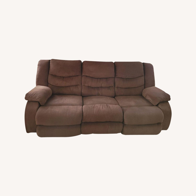 Raymour & Flanigan Fabric 3 Seater Reclining Sofa - image-0