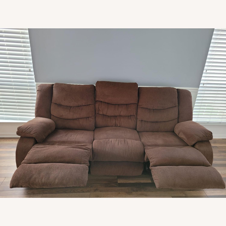 Raymour & Flanigan Fabric 3 Seater Reclining Sofa - image-3
