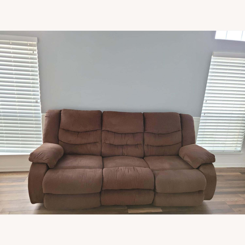 Raymour & Flanigan Fabric 3 Seater Reclining Sofa - image-1