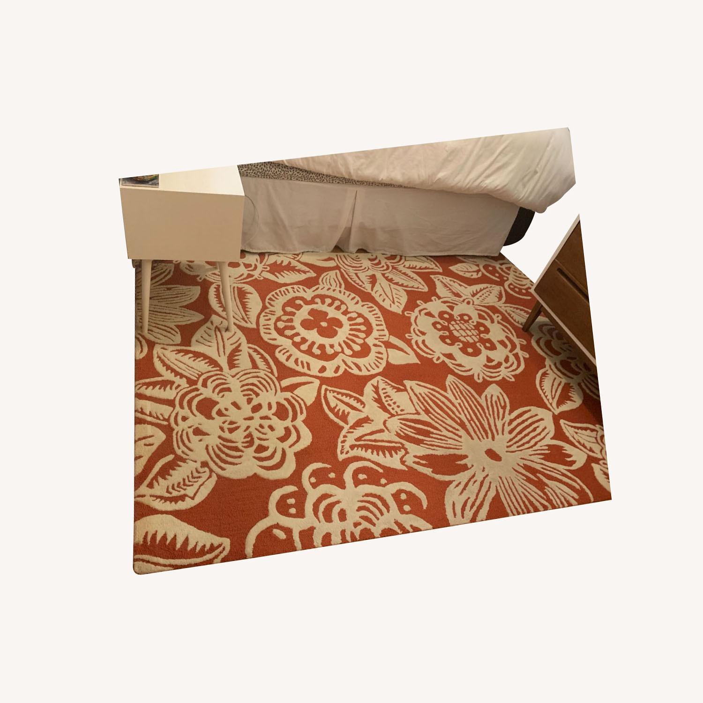 Anthropologie 5' x 7' Whorled Trapunto Rug - image-0