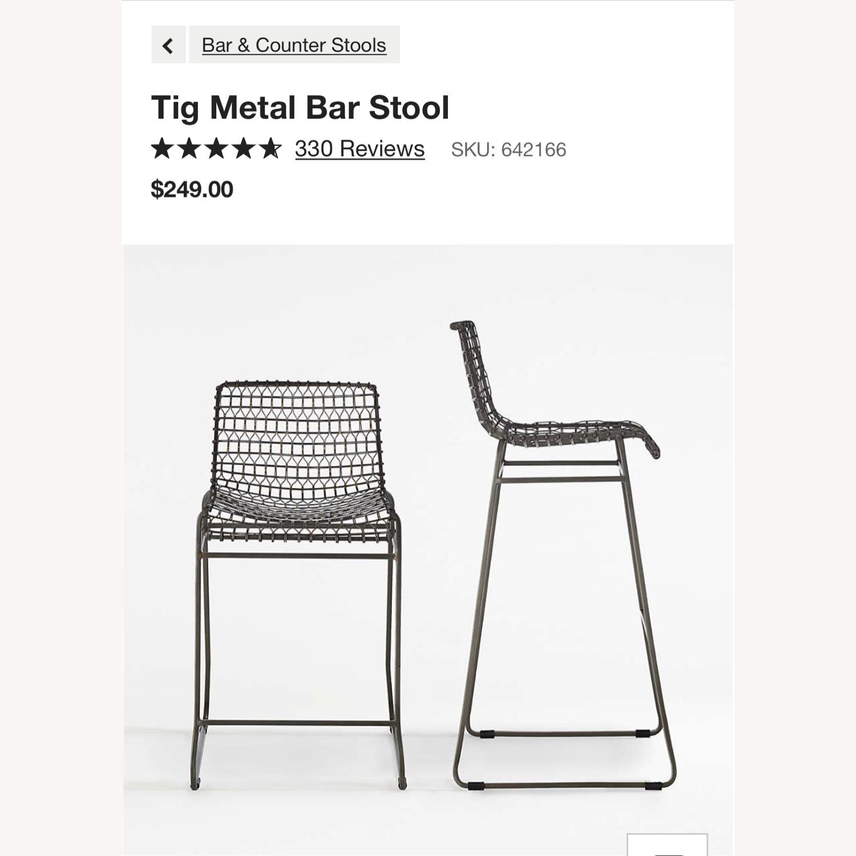 Crate & Barrel Tig Bar Stool - image-1