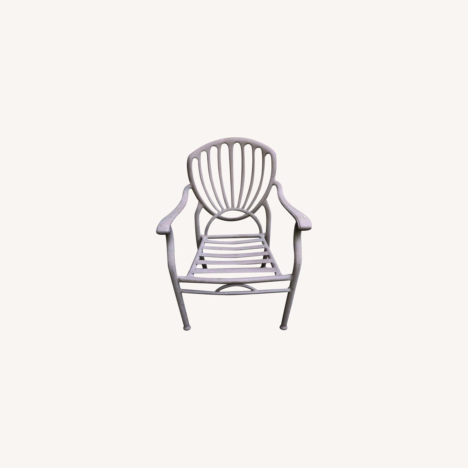 Set of 6 Metal Patio Chairs - image-0