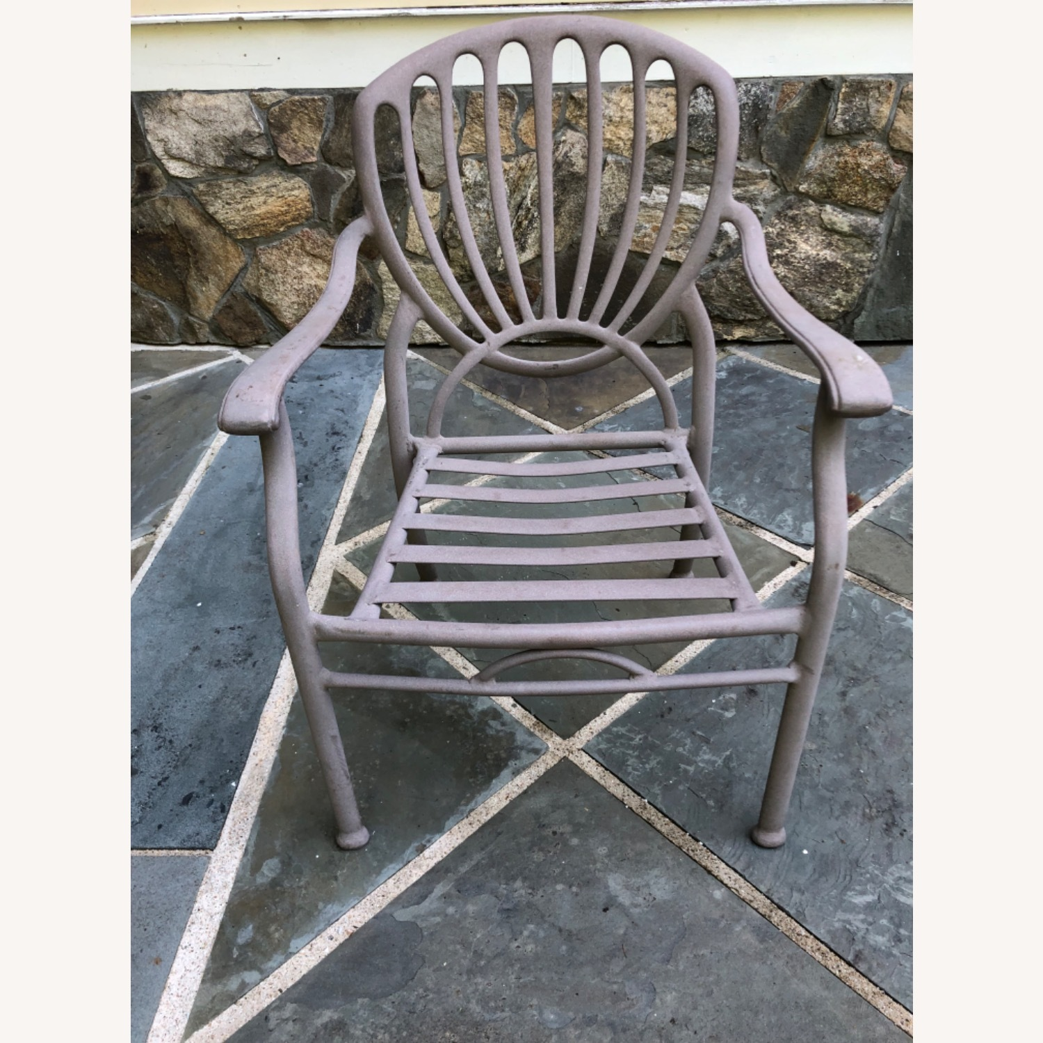 Set of 6 Metal Patio Chairs - image-1