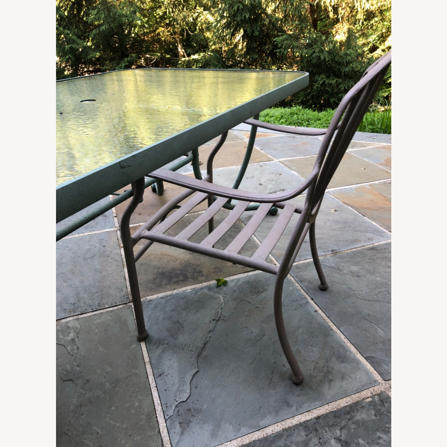 Set of 6 Metal Patio Chairs - image-3