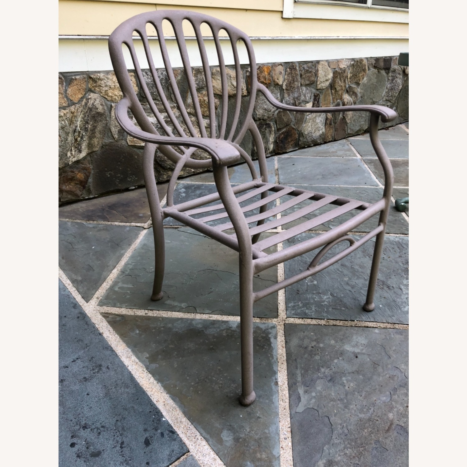 Set of 6 Metal Patio Chairs - image-2