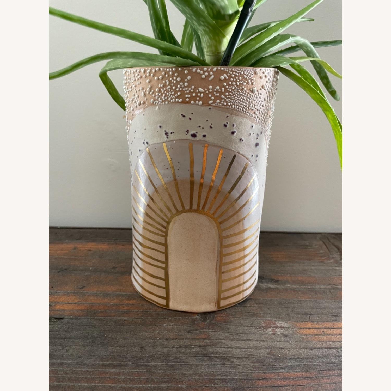 Handmade Curious Clay Rainbow Planter & Plate - image-5