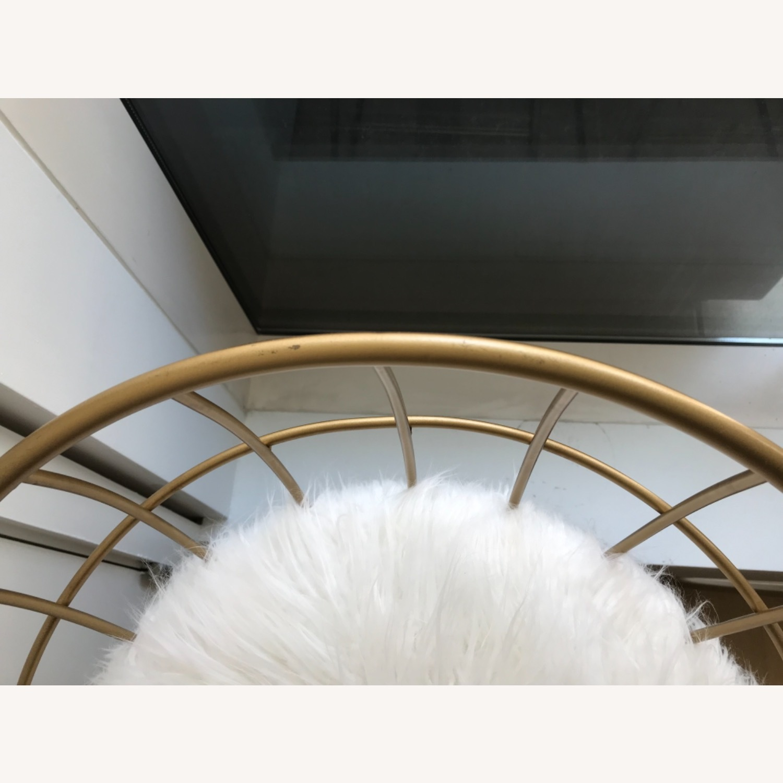 Target Faux Fur Brass Bar Stools - image-4