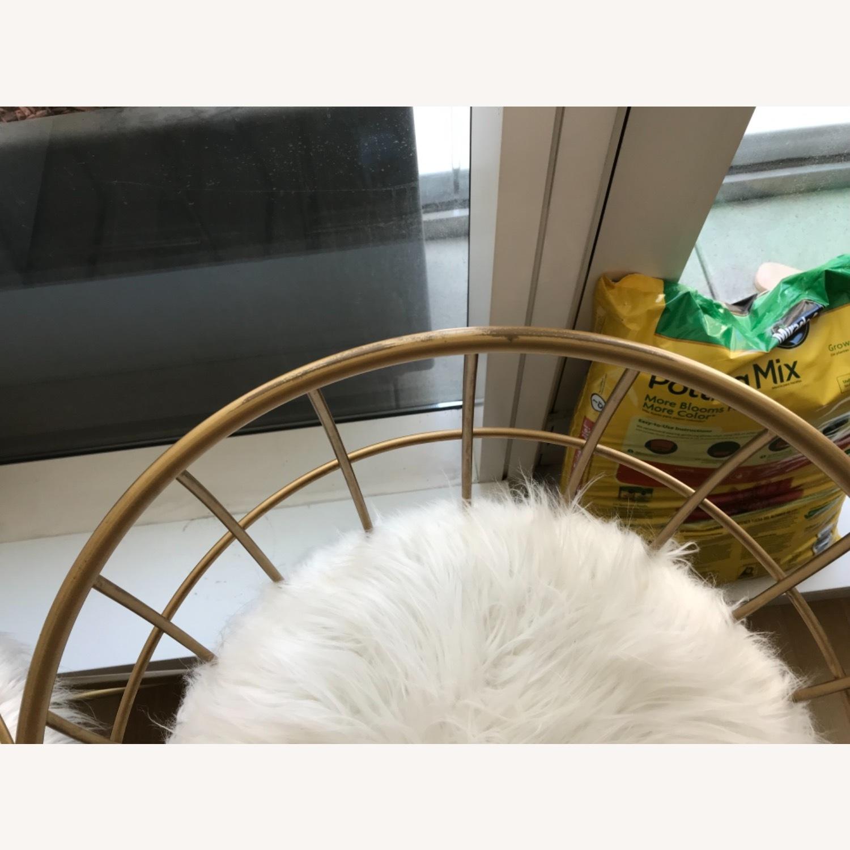 Target Faux Fur Brass Bar Stools - image-5