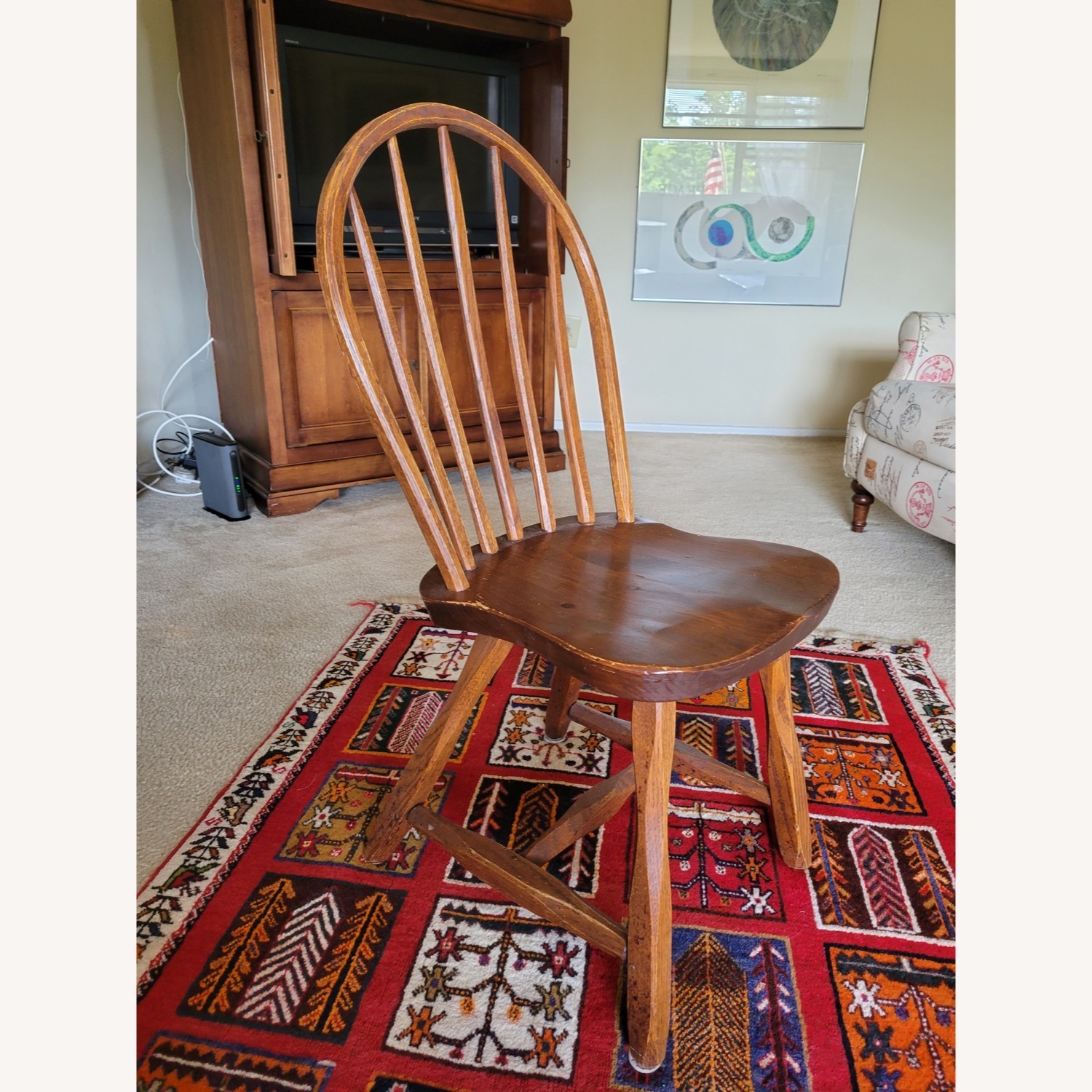 Curved Hunt Furniture Wood Chairs - image-3
