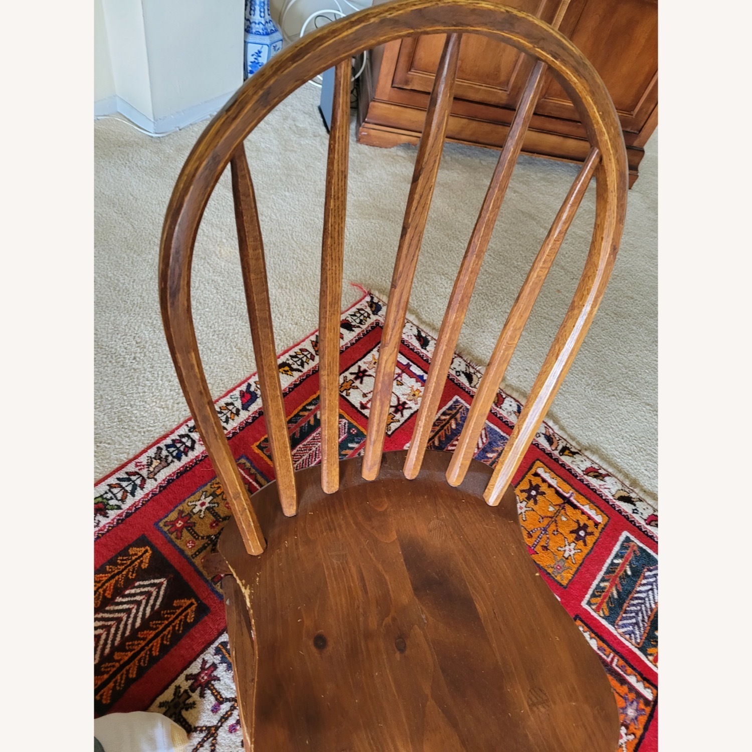 Curved Hunt Furniture Wood Chairs - image-4