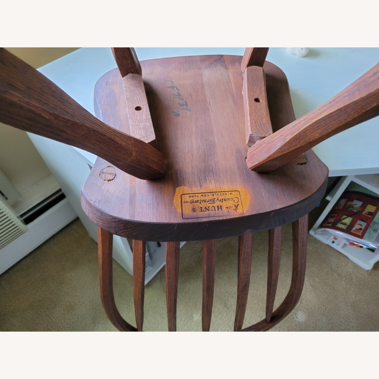 Curved Hunt Furniture Wood Chairs - image-1